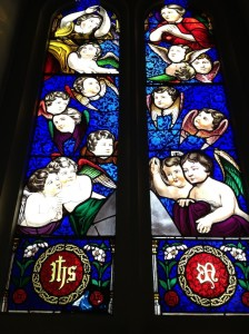 Church stained glass window small